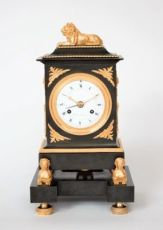 A French Empire ormolu and bronze mantel clock, Trouvarelles à Paris, circa 1800 by Trouvarelles à Paris