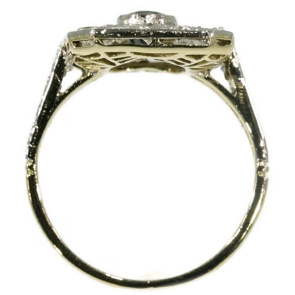 Diamond and sapphire Art Deco engagement ring by Unknown