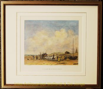 Scheveningen,  naar Van de Velde by F.B Lorieux