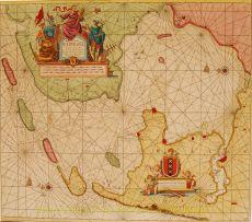 Zuiderzee antieke zeekaart  by  Van Keulen