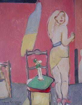 Carmen in studio (1908) by Paul Hugo ten Hoopen