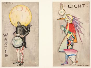 Tweeluik warmte en licht by Jan Sluijters