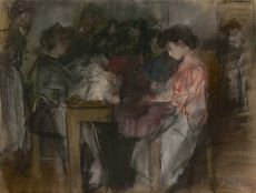 Seamstresses at the Atelier Paquin, Paris by Isaac Israels