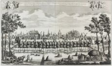 18th-century view of Leiden by Leonardus Schenk