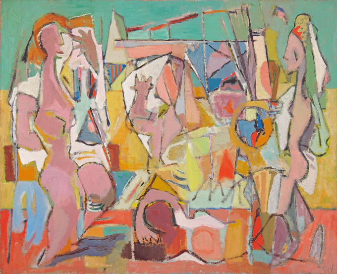 Composition: On The Beach, Cagnes sur Mer by Geer van Velde