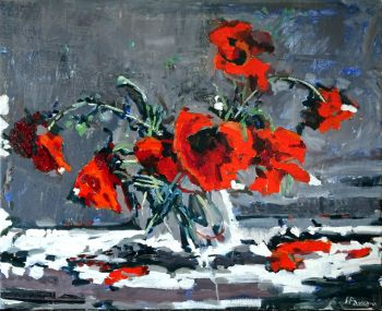 Poppies in Free Swing by Andrea Padovani