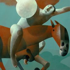 Ruiter met schild by Peter Harskamp