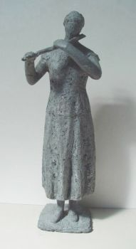 Woman playing the flute by Johan Sterenberg