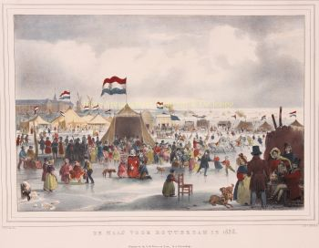 Winter in Rotterdam  by  Simon de Visser after Carel Christiaan Anthony Last