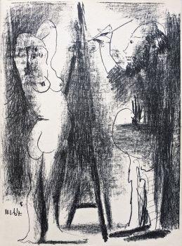 Le Peintre et son Modèle II by Pablo Picasso