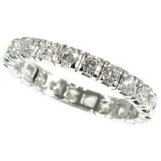 18K white gold estate eternity band with 2.20 carat diamonds by Unknown Artist