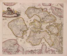 Comitatus Zelandiae Tabula, kopergravure by Wit, Frederick de (1630-1706)
