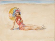 Young Lady at the beach of Viareggio