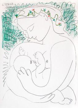 Grand Maternite by Pablo Picasso