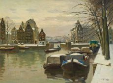 Houtkopersburgwal in Amsterdam by Willem Knip