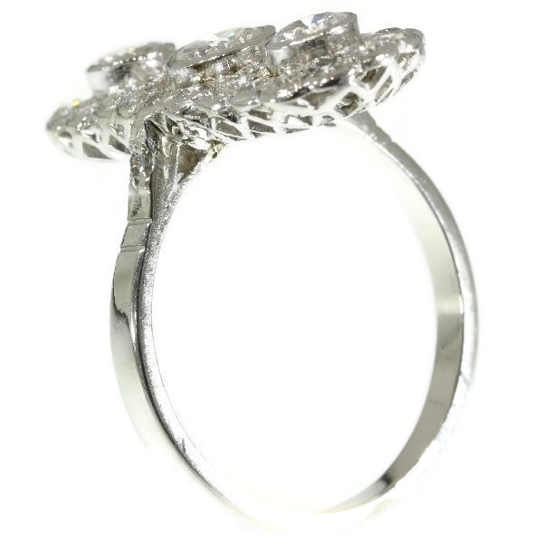 Art Deco engagement ring platinum and diamonds by Unknown Artist
