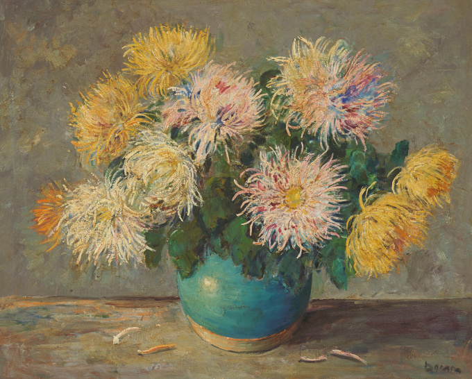 """Bloemstuk met Asters"" by Jacobus Doeser"