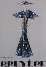 Nympheas modetekening van de collectie van Marie-Louise Bruyere by Bruyere, Marie-Louise