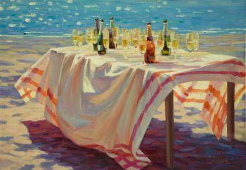 Aan de Kust - At the Coast - Oil on Linnen - In Stock by Juane Xue