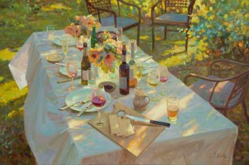 Eindelijk weer samen - Finally Together again - Oil on Linnen - In Stock by Juane Xue