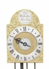 A rare and small English brass travel wall clock, William Webster London, circa 1730 by William Webster London