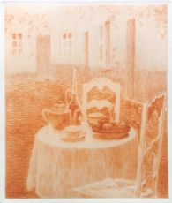 La nappe Rose The pink tablecloth by Henri Le Sidaner