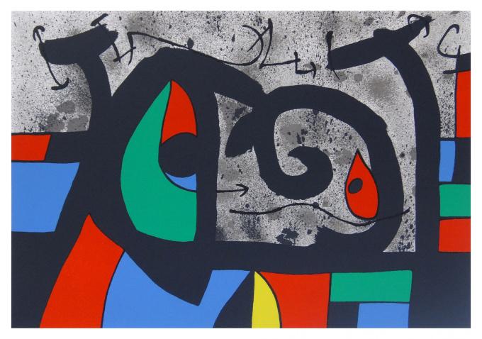Le lézard aux plumes d'or 1 by Joan Miró