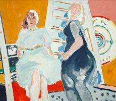 Twee vrouwen met mandala by Paul Hugo ten Hoopen