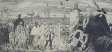Funeral of the Dutch Etching Society (Nederlandsche Etsclub)