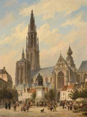 Onze Lieve Vrouw church in Antwerp by Cornelis Christiaan Dommelshuizen