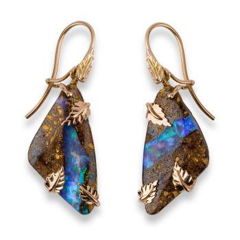 Earrings, matching pendant hummingbirds by Eva Theuerzeit
