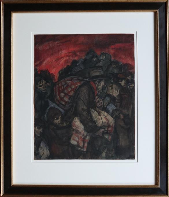 Belgian refugees 1914 by Leo Gestel