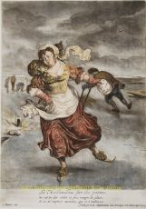 Gole after Cornelis Dusart  by  Dutch ice skating scenes