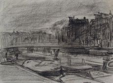 Canal in Amsterdam by Isaac Israels
