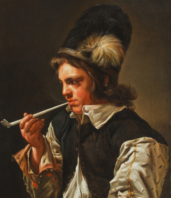 Portrait of a Young Man with a Pipe by Michaelina Woutiers/ Wautier