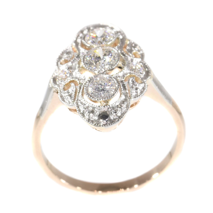 Vintage diamond engagement ring by Unknown Artist