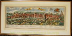 BEAUTIFUL LARGE FORMAT VIEW OF ROME    by Probst, Georg Balthasar