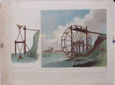 Section and Elevation of a Wheel used by the Chinese for Raising Water by Alexander, William (1767-1816)