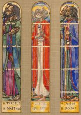 Design drawing for stained glass apostle windows of the St. Jozef Church  in Nijmegen
