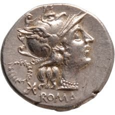AR Denarius C. Servilius M.f. by Unknown Artist