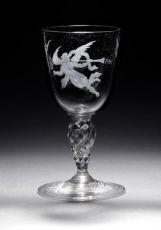 Wine glass to commemorate Peace by Unknown Artist
