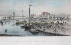 De Jagthaven en het Hotel Nieuwe Stads Herberg aan het IJ by Unknown Artist