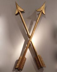 Set of 4 large gilded wooden arrows by Unknown Artist