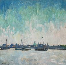 View on Amsterdam from the IJ by Willem Paerels