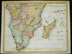 Zuidelijk Afrika  by  Carte du Congo et du Pays des Cafres