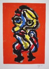 Figure in red by Karel Appel