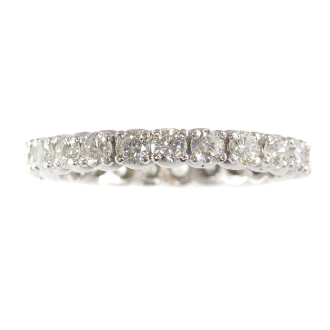 White gold diamond estate eternity band by Unknown Artist
