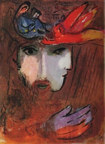 David et Bethsabee by Marc Chagall