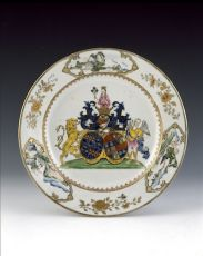 A set of armorial dishes by Unknown Artist