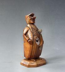 Zappler clock, wooden mascot figure, miniature clock, 'Neuburger & Sohnen à Paris', circa 1880.